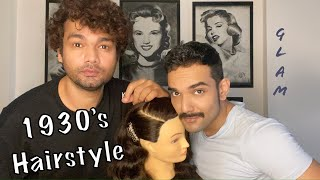 Vintage Glam with a celebrity hairstylist friend | Aasif Ahmed | Sanky