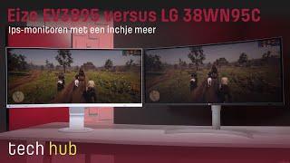 Eizo Flexscan EV3895 versus LG 38WN95C - Ips-monitoren met een inchje meer