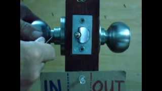 HOW TO REMOVE BEST KNOB LOCK FROM THE DOOR