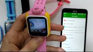 """Детские часы с камерой GPS Smart Baby Watch Q100/GW1000 (голубой) от компании """"Магазин Все, Что Нужно"""" - видео"""