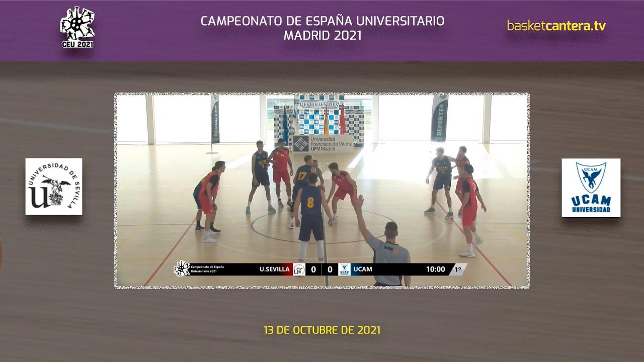 Final MASC, Campeonato de España Baloncesto Universitario: U. SEVILLA vs UCAM Murcia (13/10/21)