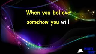 Whitney Houston & Mariah Carey   When You Believe (coro) Karaoke