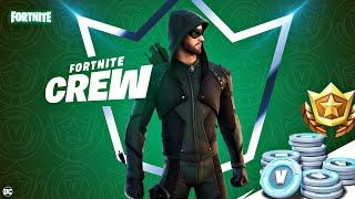 "Fortnite ""Green Arrow"" January Crew Pack Showcase + Gameplay! (Fortnite Crew)"