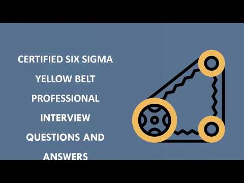 Six Sigma Yellow Belt Interview Questions | Vskills.in - YouTube