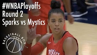 [WNBA Playoffs Round2] LA Sparks vs Washington Mystics, Full Game Highlights, August 23, 2018