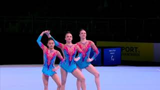 Chang, Davis, Freed - Dynamic - 2018 Acrobatic Gymnastics World Championships - Qualifying