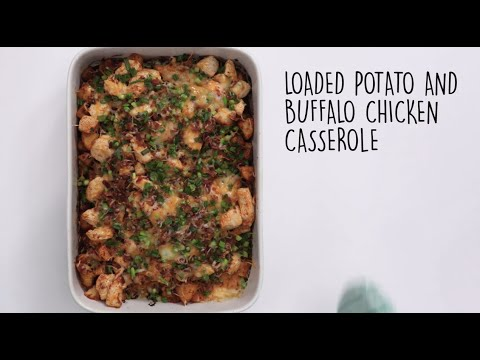 How to Make Loaded Potato and Buffalo Chicken Casserole | Trending Tastes