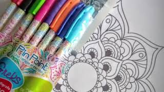 Cómo hacer mandalas | mandas con bolígrafos | tips para colorear mandala | aprende a hacer mandalas