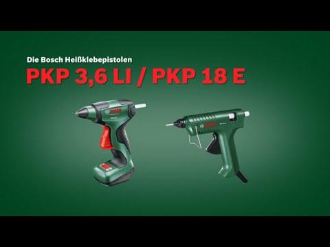 Bosch stellt vor: Heissklebepistole PKP 18 E und PKP 3,6 LI