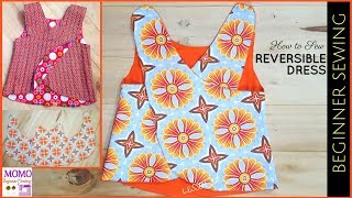 How To Sew: REVERSIBLE DRESS - Beginners Sewing Lesson 32