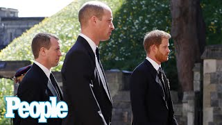 Prince Harry & Prince William 'Drifted to Each Other' at Prince Philip's Funeral | PEOPLE