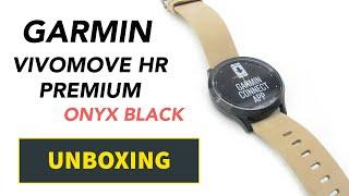 Garmin Vivomove HR Premium Onyx Black Unboxing HD (010-01850-00)