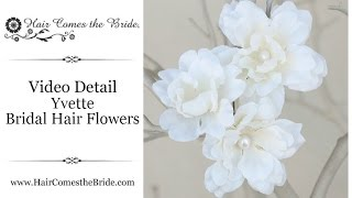Silk Flower Bridal Hair Pins ~ Bridal Hair Accessories And Jewelry By Hair Comes The Bride