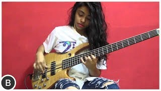 "AMAZING YOUNG BASSIST MOHINI DEY // GERGO BORLAI ""DAY BY DEY"" // BassTheWorld.com"