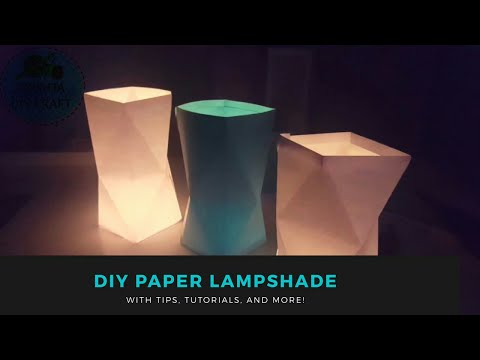 DIY How To Make Paper LampShades For Begginers | Home Decor 2017 Mp3