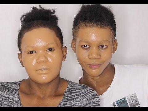 Souper les masques sur la personne les rajeunissants