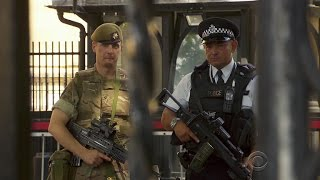Responding to terror threat level, British troops deployed in the streets