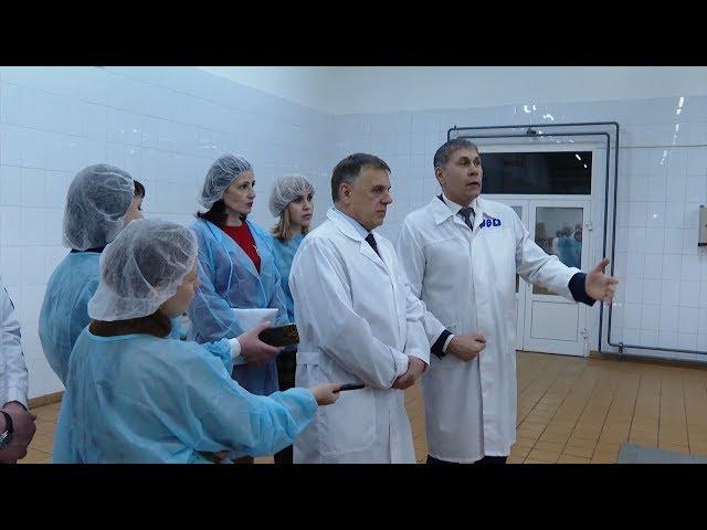 Мэр округа посетил молокозавод