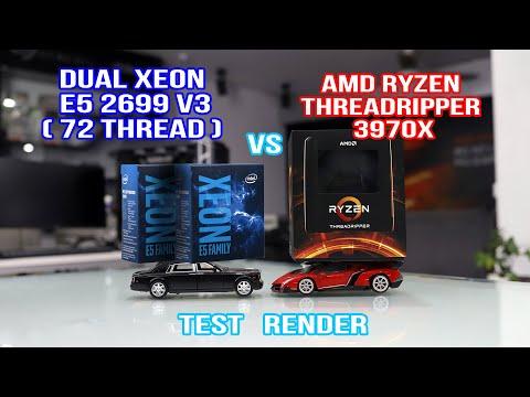So sánh Dual Xeon E5 2699 v3 vs AMD Threadripper 3970x