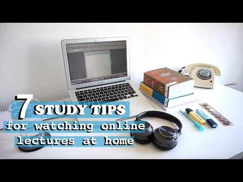 HOW TO WATCH ONLINE LECTURES AT HOME?   STUDY TIPS