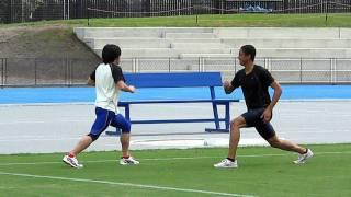 【フライングスプリット】より動きに近いトレーニングを行おう!【ケンブリッジ飛鳥選手】