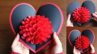 DIY Flower Pop Up Card - Paper Crafts - DIY Pop Up Card