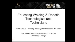 Educating Welding & Robotics Technologists and Technicians