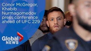 Conor McGregor and Khabib Nurmagomedov face off in press conference ahead of UFC 229