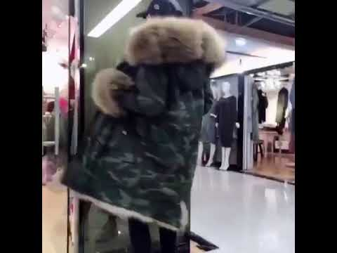 Meifng brand luxury fur parka