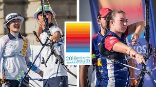 Korea v USA – recurve cadet mixed team gold   World Archery Youth Championships 2019