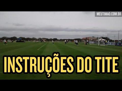 Treino do Corinthians com instruções do Tite, em Orlando - 14/01/2015