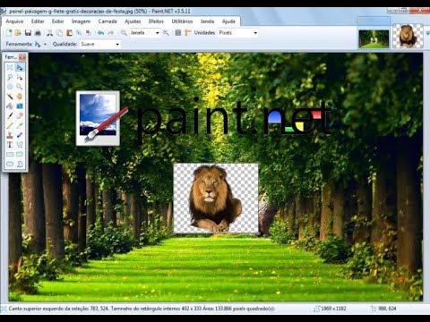 Paint.net - Como inserir PNG (Logo/transparência) em outra imagem [Sobreposição de imagens]