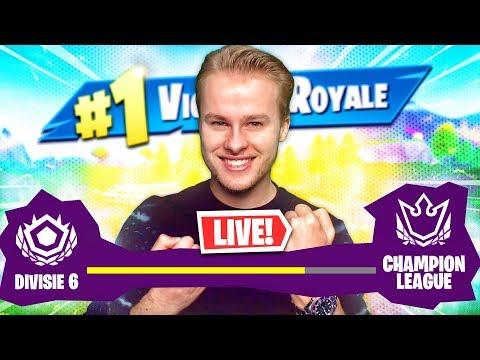 grinden voor de champion divisie fortnite arena royalistiq livestream nederlands - fortnite champion league logo