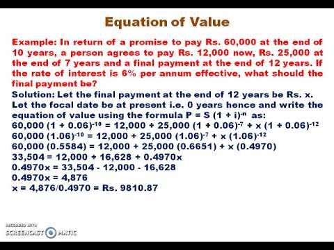 B.Com 2nd Semester - Mathematics of Finance part-2