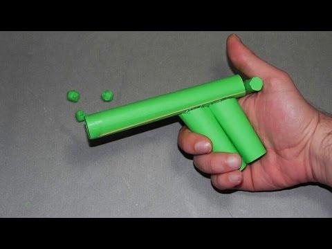| DIY | How to make a paper gun that shoots paper balls- EASY TUTORİAL