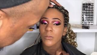 Baby Shower Pink Cut Crease Make Up  Tutorial | Its A Baby Girl