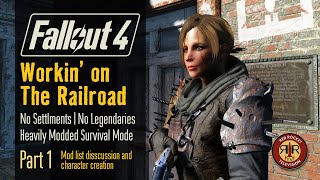 Fallout 4 - Workin on The Railroad - No Settlements - No Legendaries - Alternate Start Survival Mode - Part 1