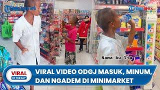 Viral Video ODGJ Masuk dan Minum Air sambil Ngadem di AC Minimarket, Serasa Rumah Sendiri