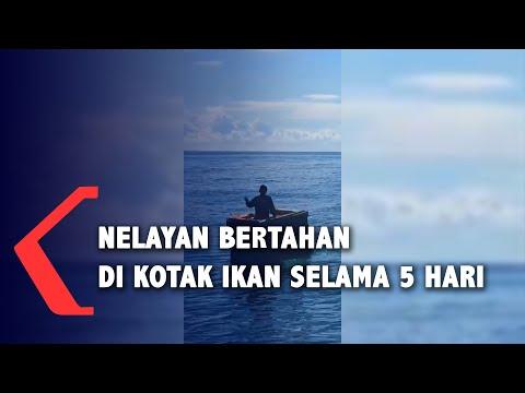 nelayan tahun terombang ambing di laut hari