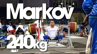 preview picture of video 'Ivan Markov 240kg Back Squat x2 Almaty 2014 Worlds Training Hall'