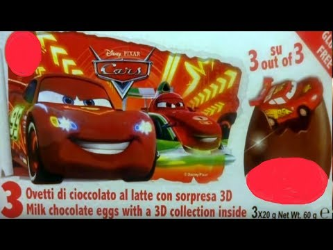 12 Cars 3D Cars 2 Disney Pixar Lightning McQueen  Kinder Surprise Eggs