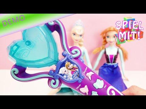 Die Eiskönigin Mikrofon zum Singen und Aufnehmen | mit Elsa und Anna | Disney Frozen | Demo