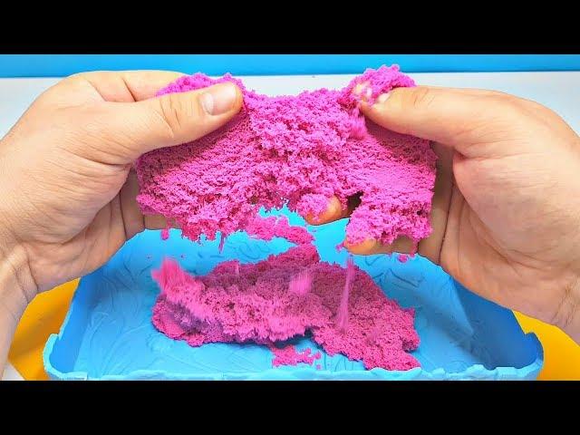 Песок для детского творчества - KINETIC SAND NEON (розовый)