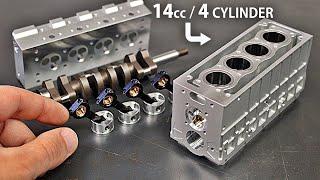 Assembling & Running a WORKING 4 Cylinder FOUR Stroke Model Engine - Toyan L400 Engine