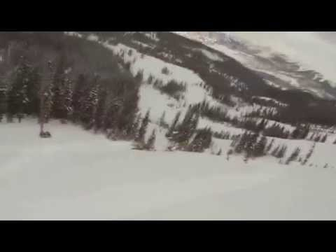 LiveLeak.com - Skier Falls Off A Pretty Large Cliff