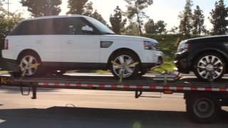 Car Shipping | Open Trailer | Auto Transport Service | Range Rover on trailer