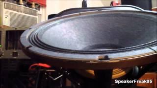 """18"""" Eminence Omega 18 Subwoofer FINISHED - Test Video."""