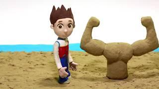 DibusYmas Paw Patrol clay cartoon 💕Superhero Play Doh Stop motion cartoons - Vengatoon