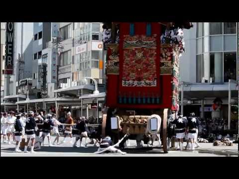 Gion Matsuri Floats Parade: Yamaboko Junko. Kyoto, Japan 【HD】