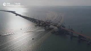 Крымский мост с высоты птичьего полета, новое видео